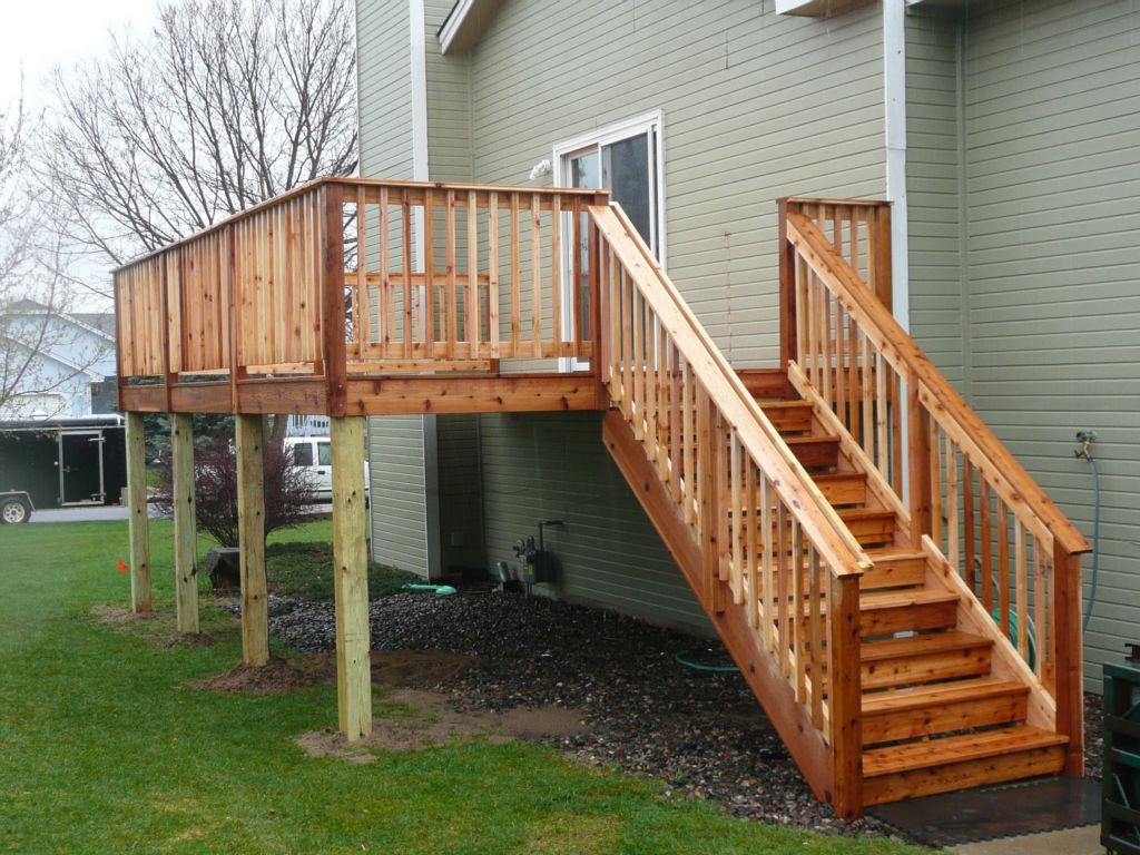 Image of: Deck Railing Spindles Decorations