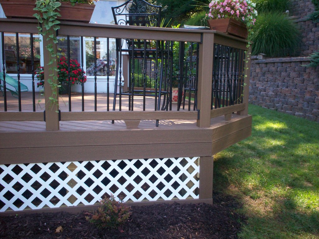 Image of: Deck Skirting Ideas Images