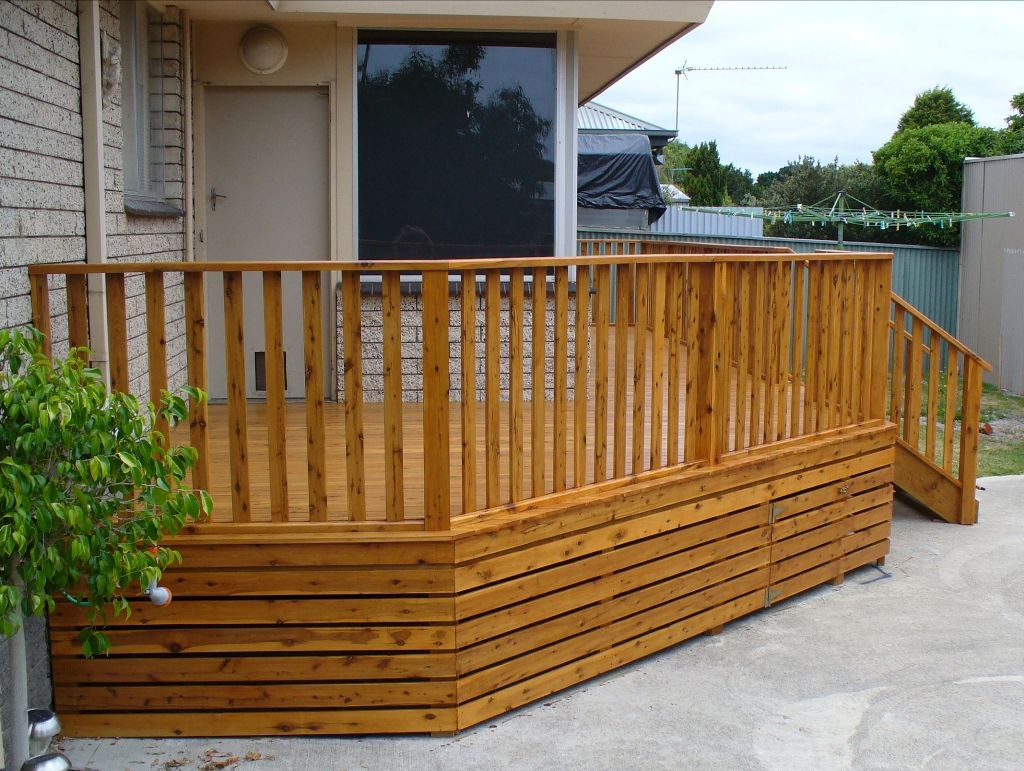 Image of: Deck Skirting Ideas Pictures