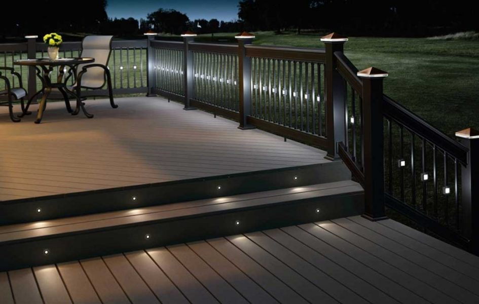 Image of: Deck Stair Lights Plan