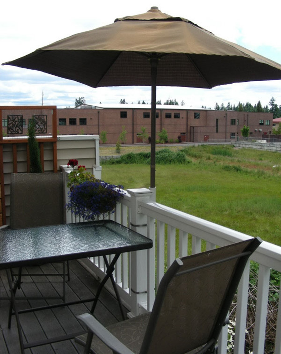 Image of: Deck Umbrella Mount