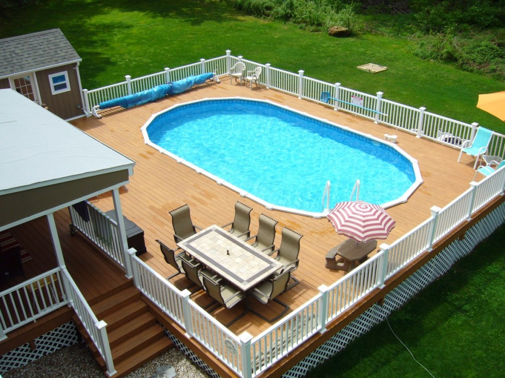 Image of: Decks for Above Ground Pools Plans