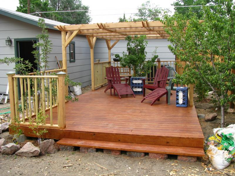 Image of: Decor Floating Deck Footings