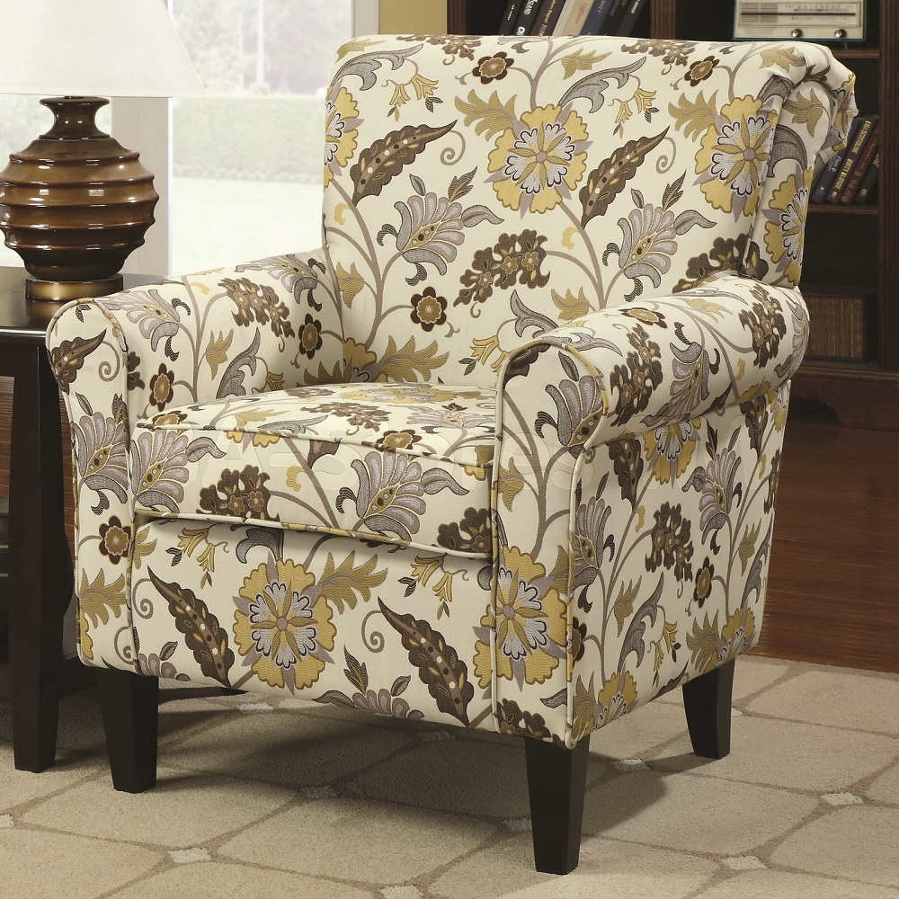 Image of: Decorating Floral Accent Chair