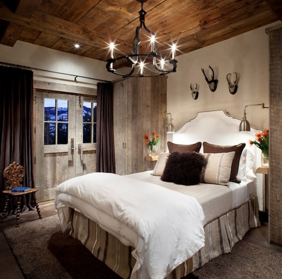 Image of: Decorating Rustic Bedroom Ideas Pictures