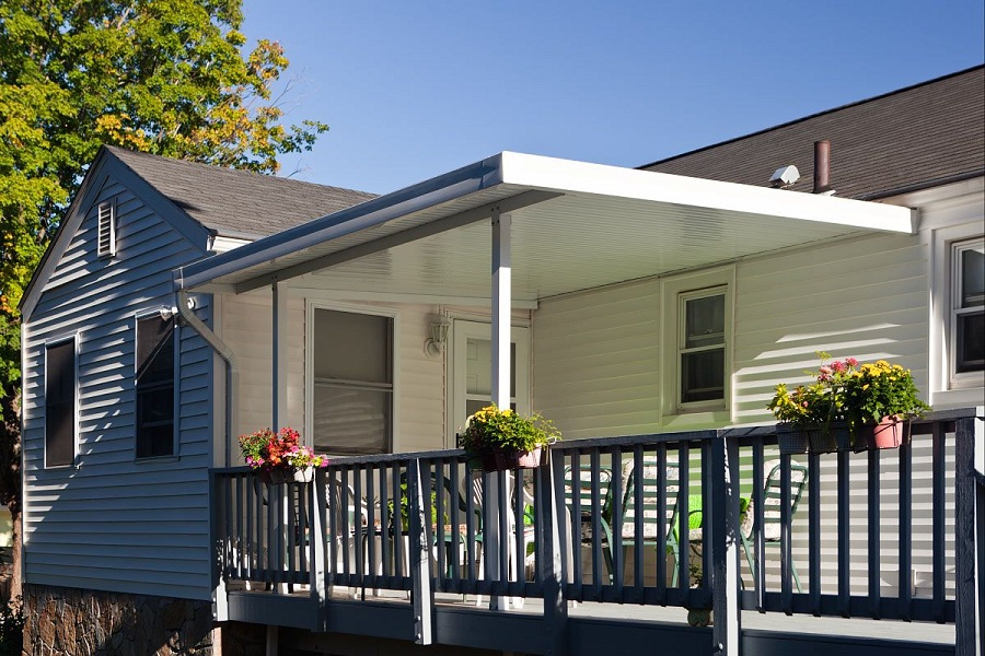 Image of: Decoration Aluminum Awnings for Decks