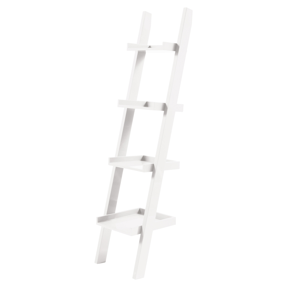 Image of: Decoration White Ladder Bookcase