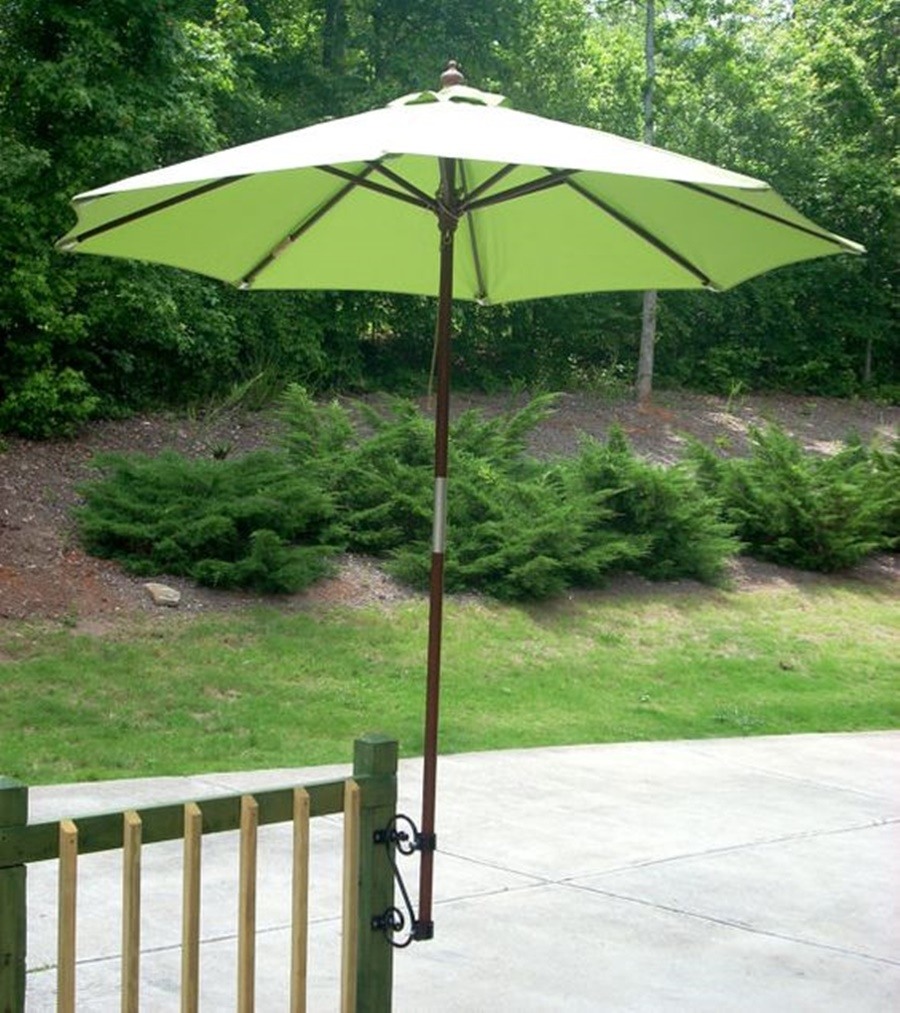 Image of: Decorative Deck Umbrella Mount