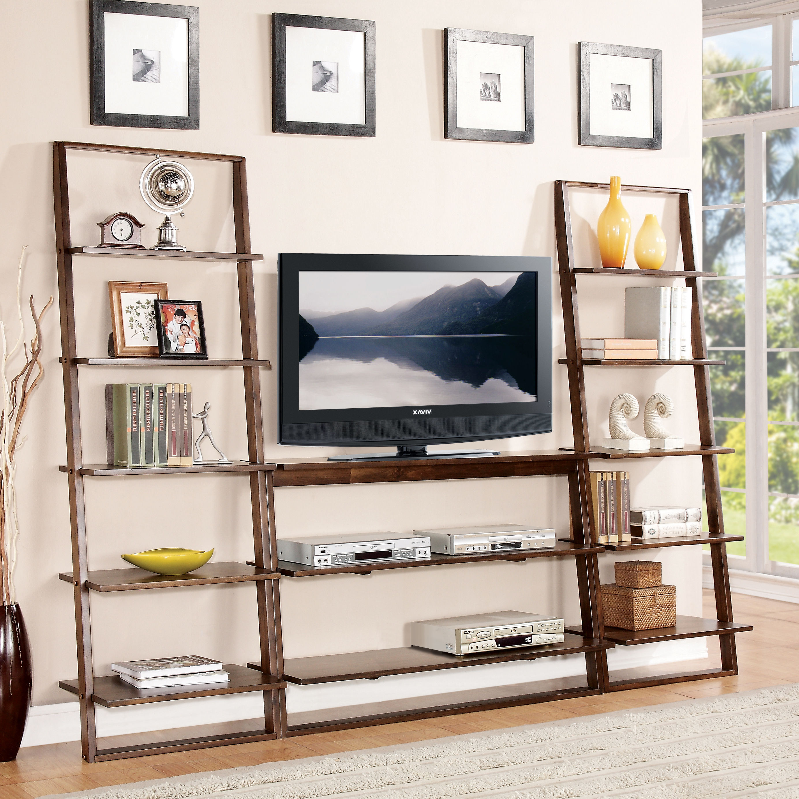 Image of: Decorative Leaning Bookcase