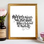 Decorative Mirror Mirror On The Wall Quote
