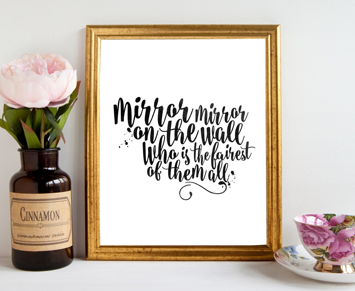 Image of: Decorative Mirror Mirror On The Wall Quote