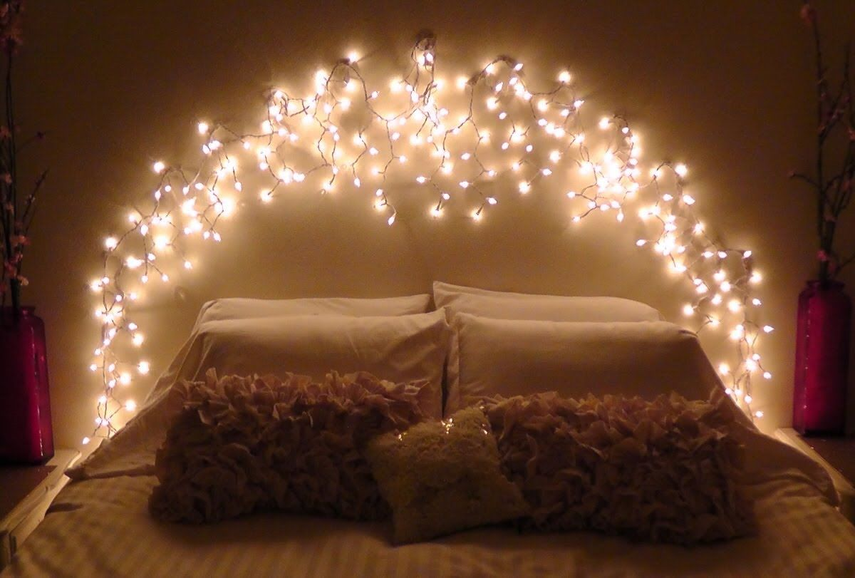 Image of: headboard with lights pinterest