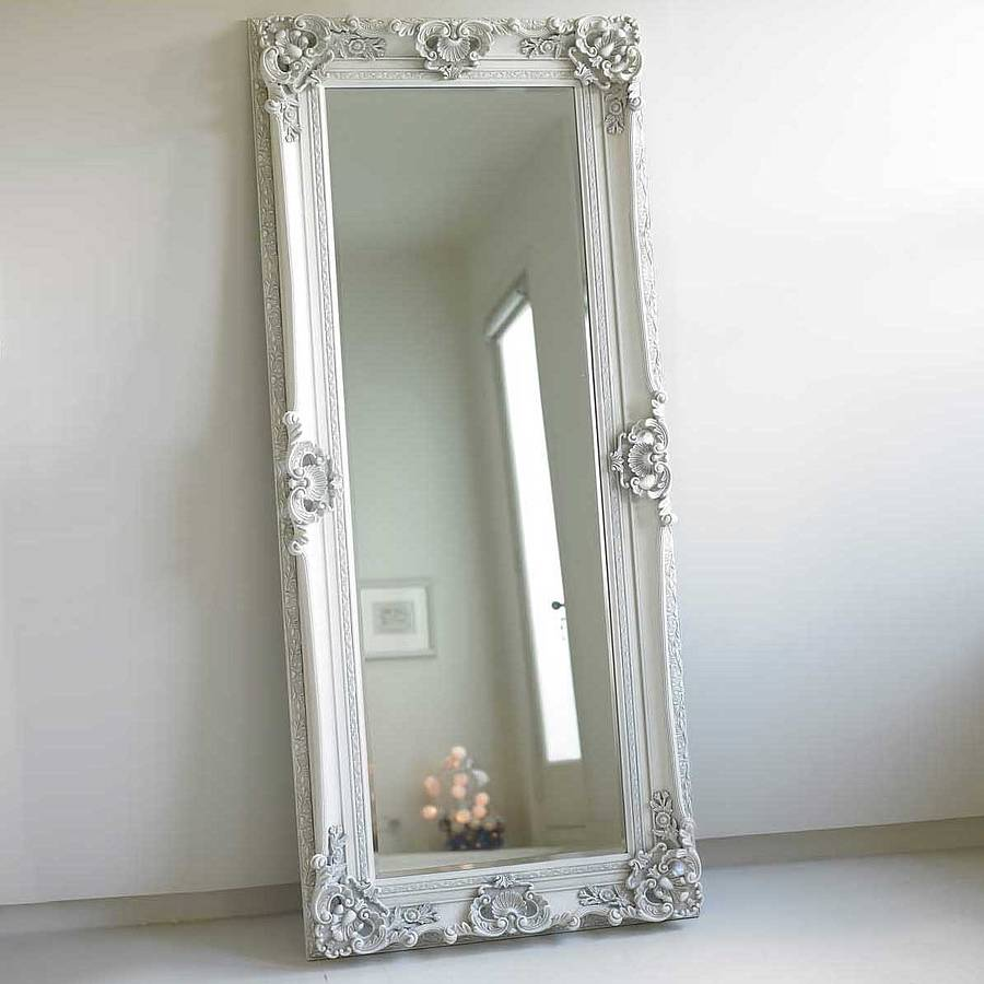 Decorative Wood Frame Full Length Mirror