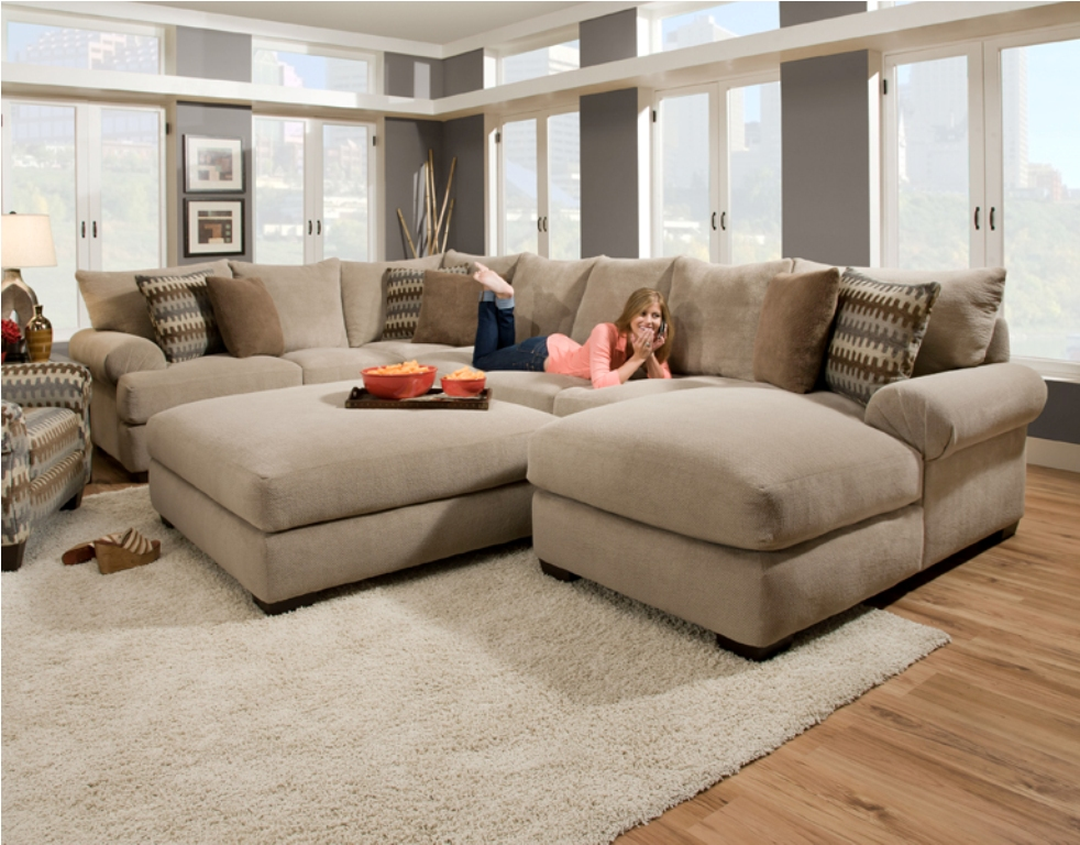 Image of: deep seated sofa sets