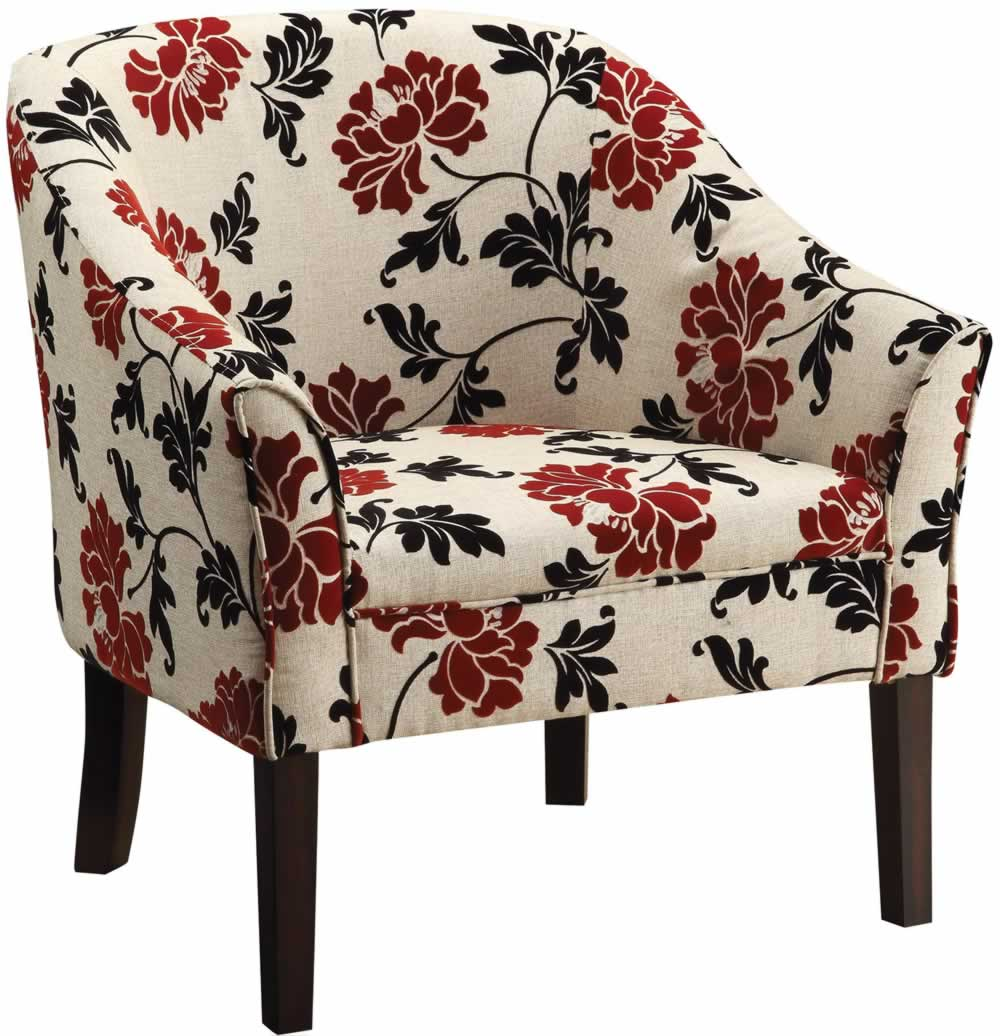 Image of: Design Floral Accent Chair