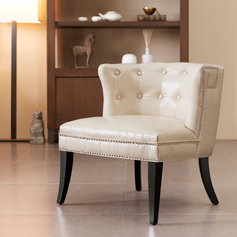 Image of: Design Ivory Accent Chairs
