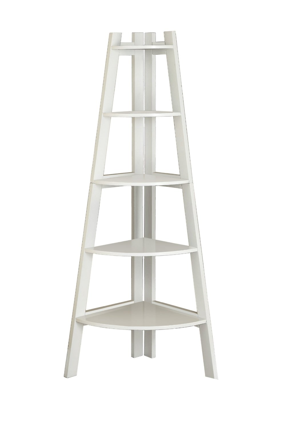 Image of: Design White Ladder Bookcase