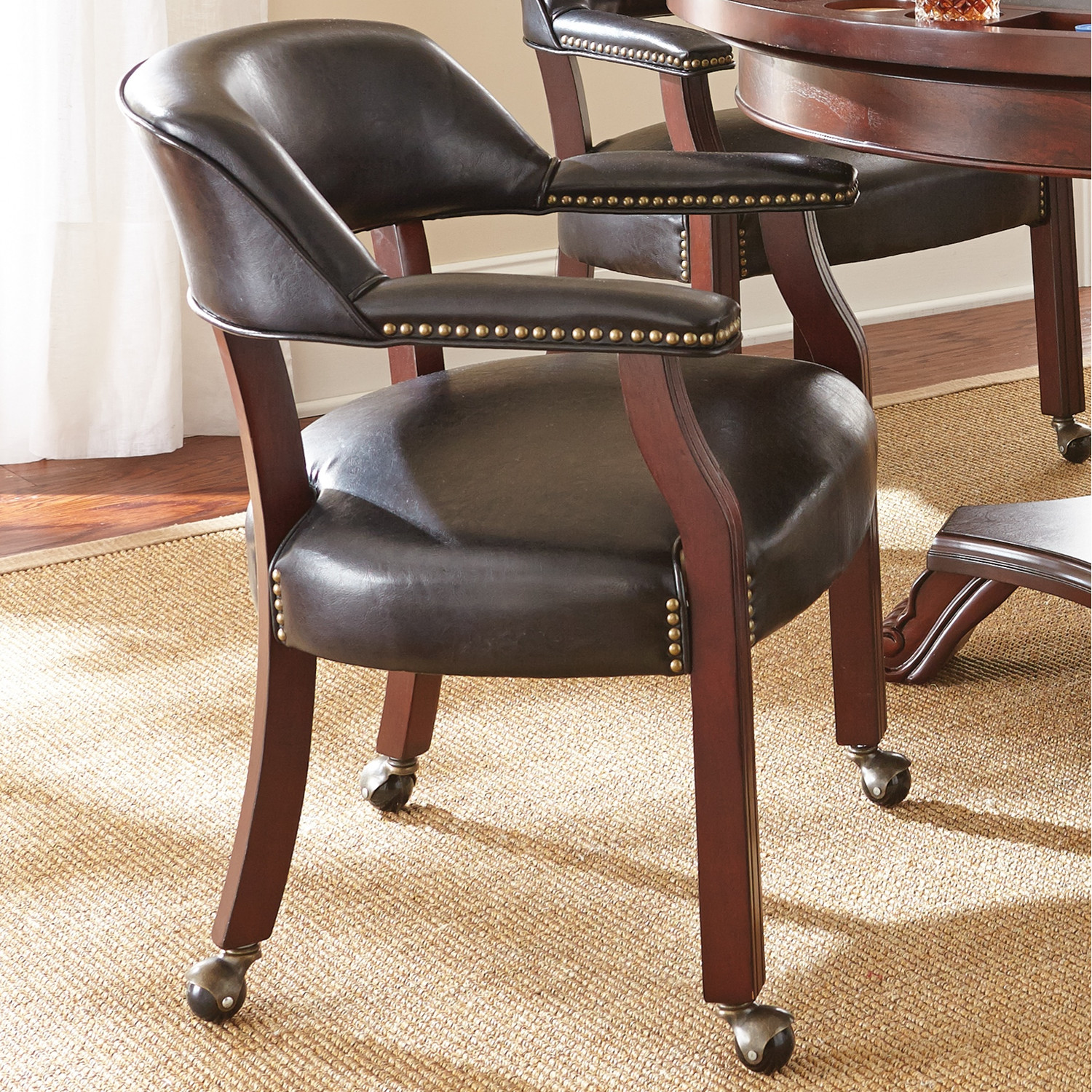 Image of: Dining Chairs with Casters or Rollers