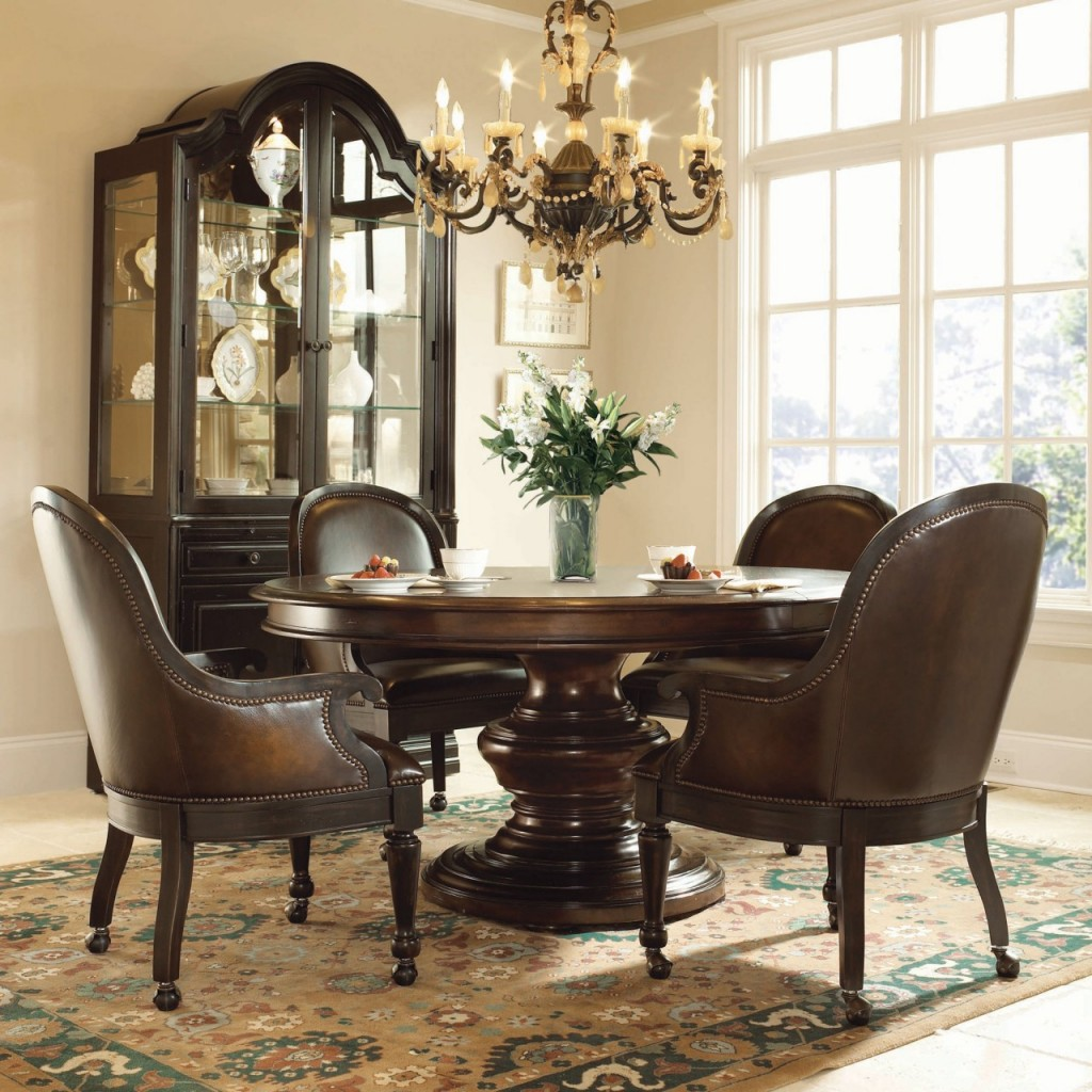 Image of: Dining Chairs with Casters