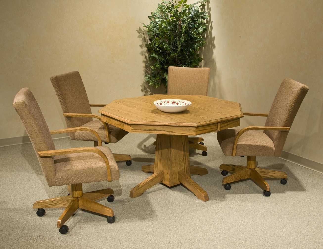 Image of: Dining Room Chairs With Casters Design