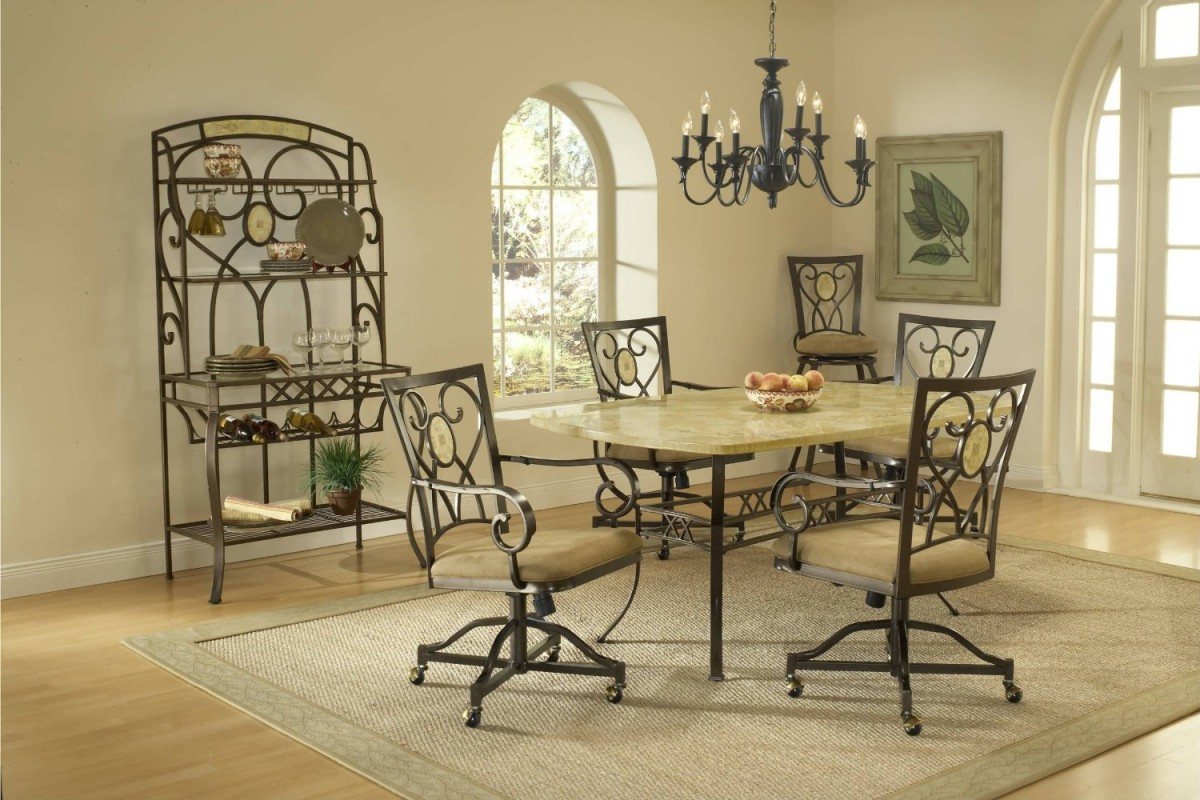 Image of: Dining Room Chairs With Casters Style