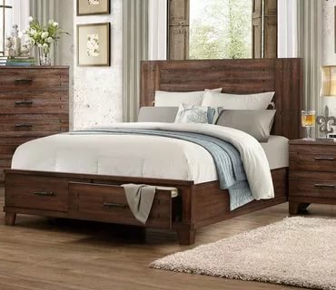 Image of: Distressed Black Bedroom Furniture