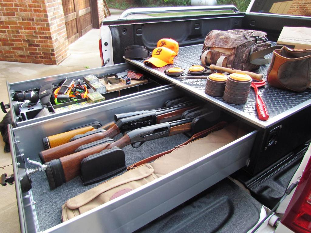 Image of: Diy Truck Bed Storage Drawers Plans