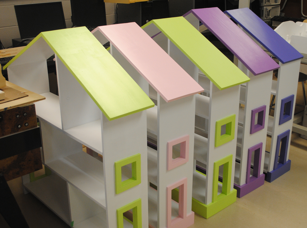 Dollhouse Bookcase Colors