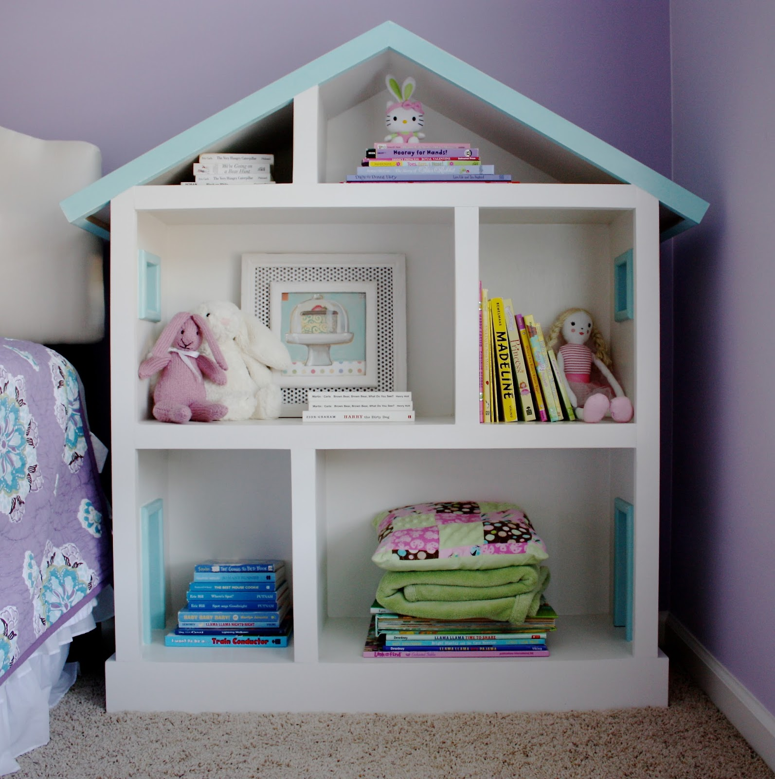 Image of: Dollhouse Bookcase Designs