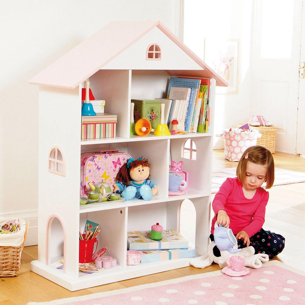 Image of: Dollhouse Bookcase Kids