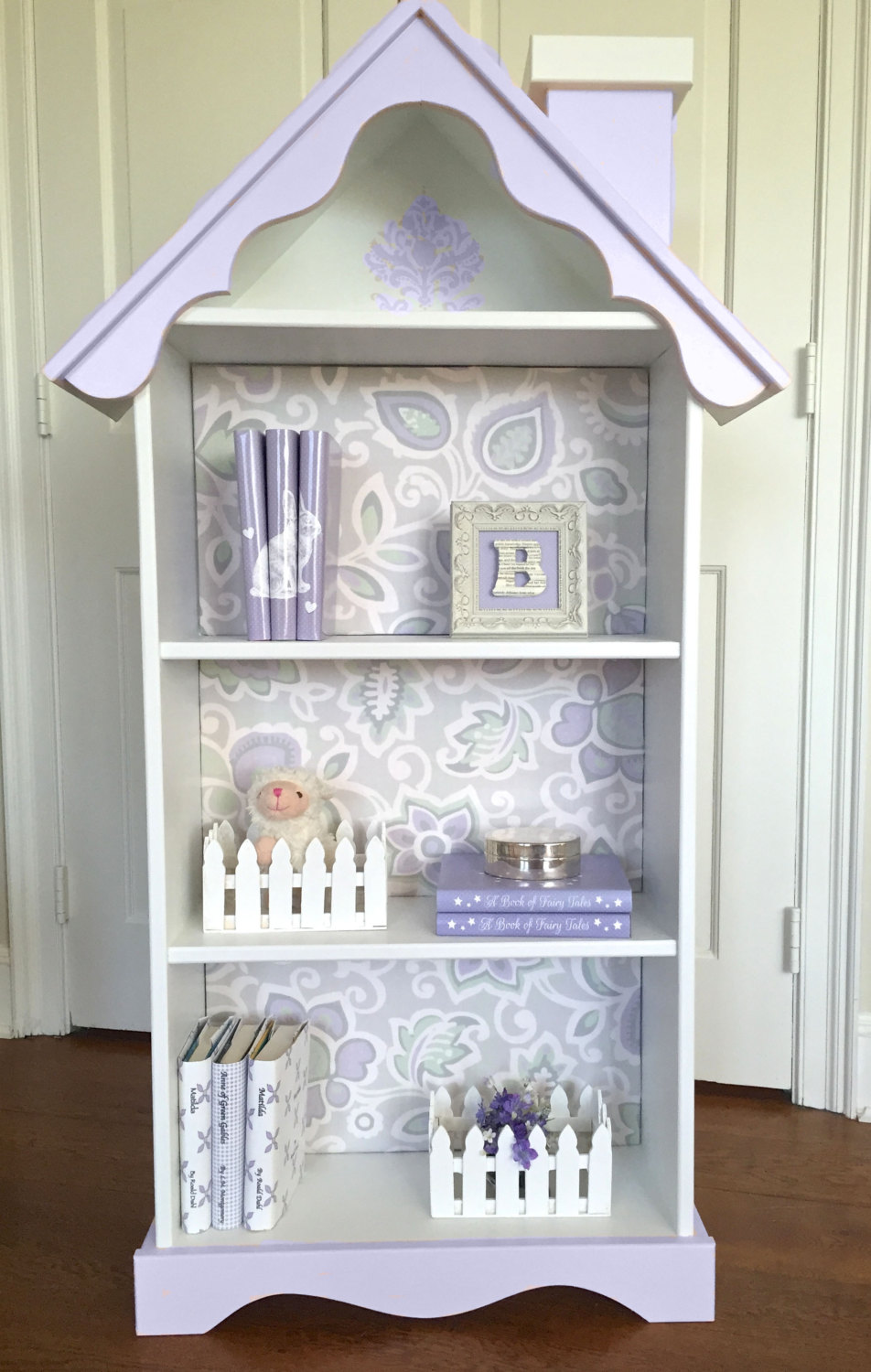 Image of: Dollhouse Bookcase Size