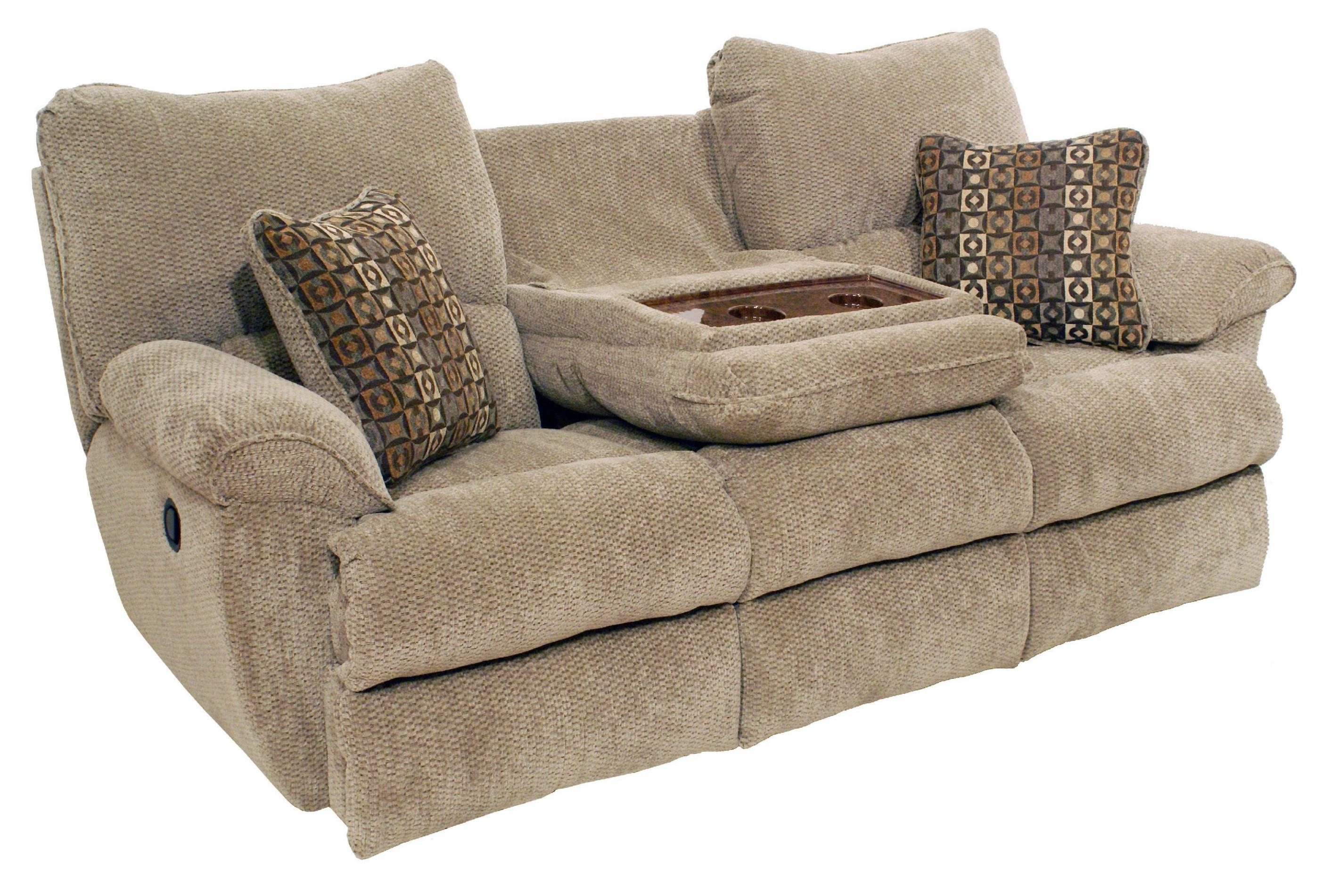 Image of: Double Recliner Couch