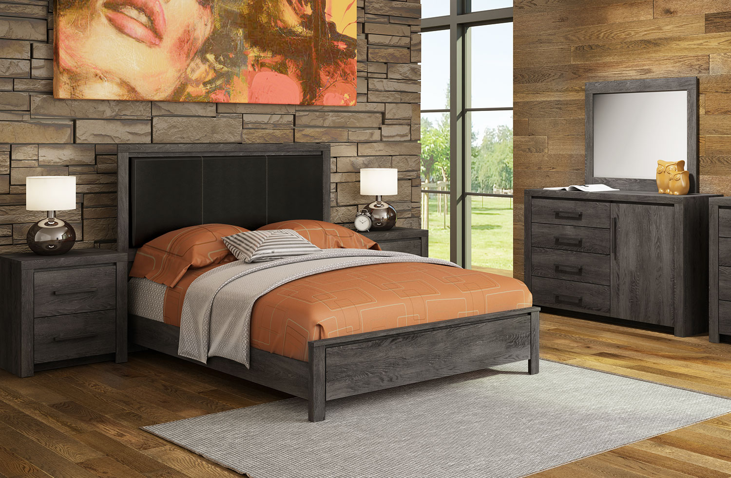 Image of: Driftwood Color Bedroom Furniture