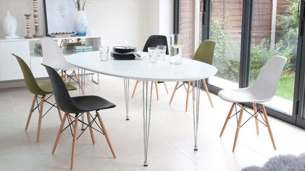 Image of: eames dining chair black base