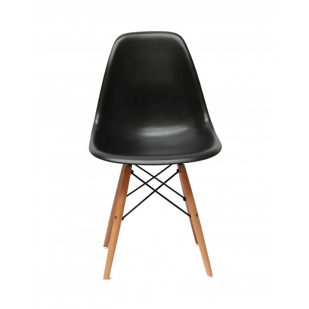 Image of: Eames Dining Chair Black Design