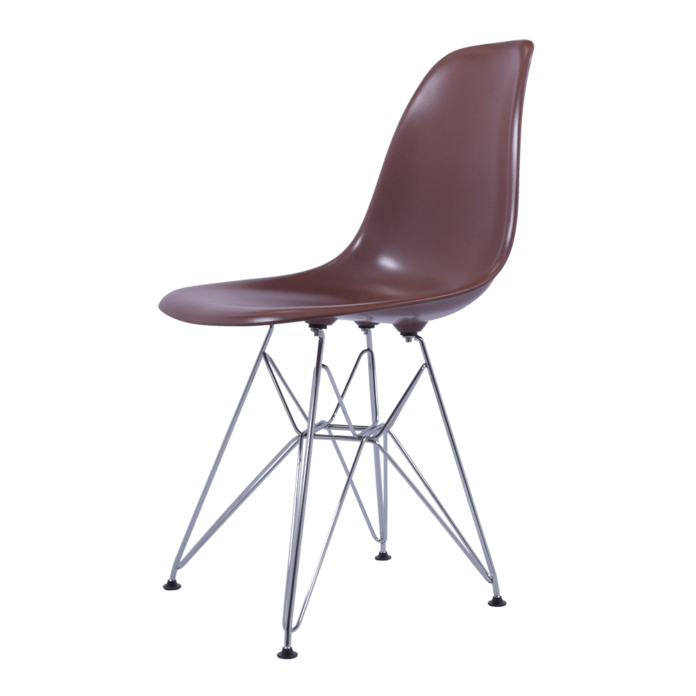 Image of: Eames Dining Chair Brown