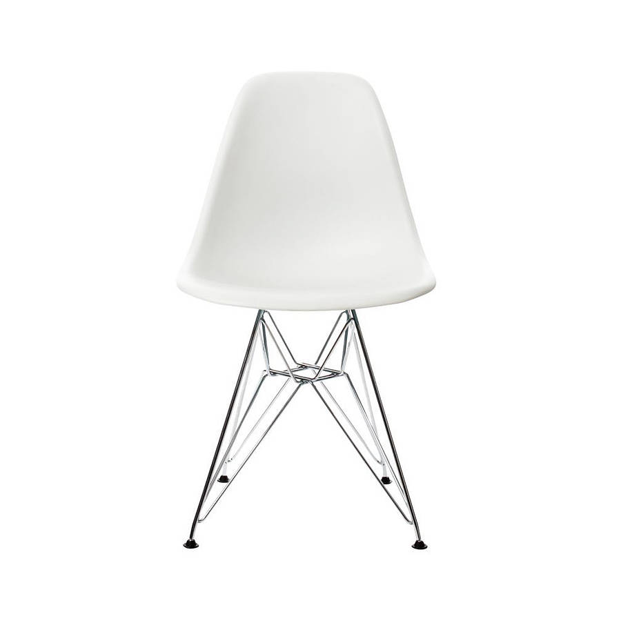 Image of: Eames Dining Chair White Design