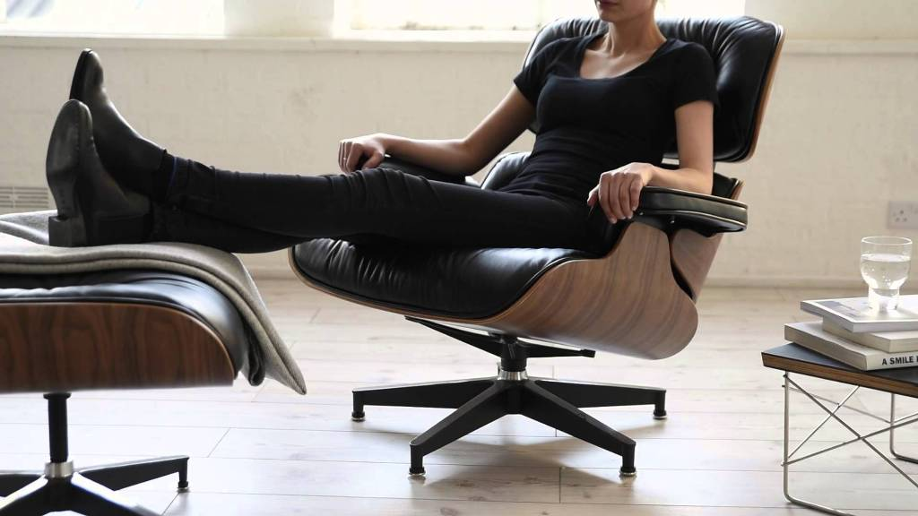 Image of: cute eames lounge chair black
