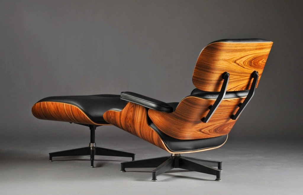 Image of: eames lounge chair brown leather ideas