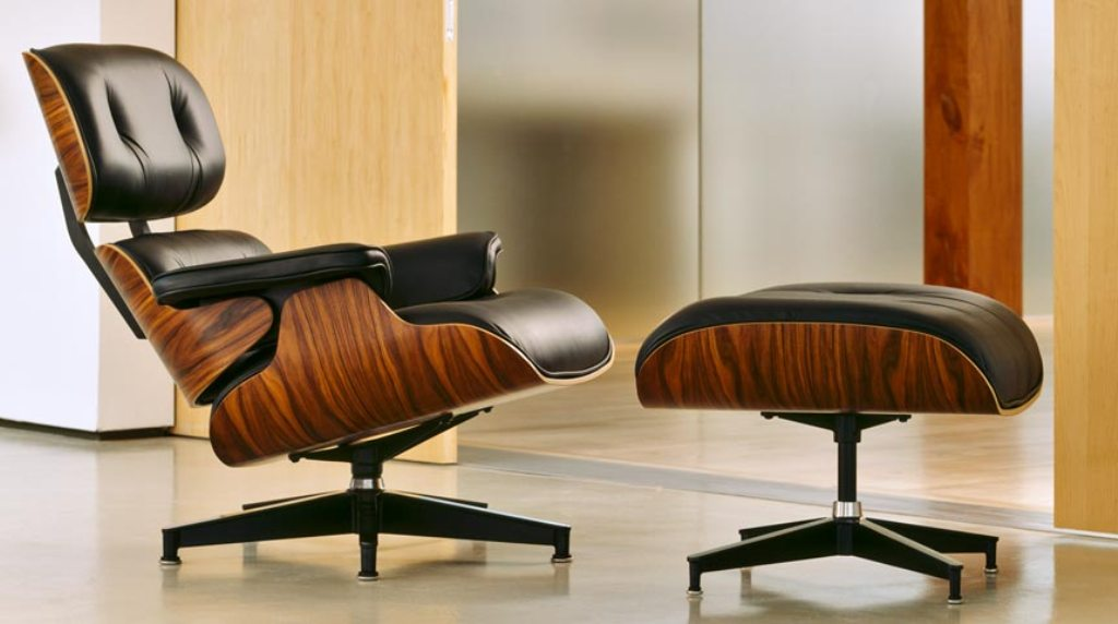 Image of: eames lounge chair brown
