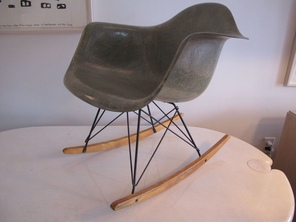 Image of: eames rocking chair grey