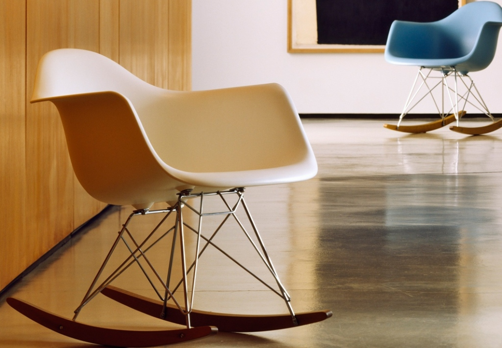 Image of: eames rocking chair plastic