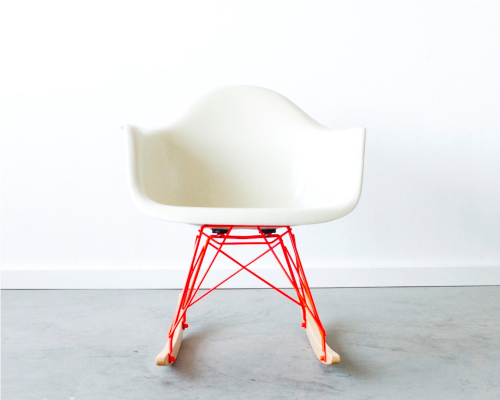 eames rocking chair white