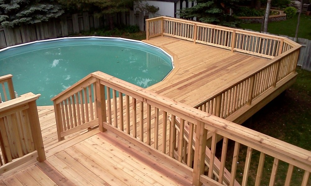 Image of: Easy Decks for Above Ground Pools