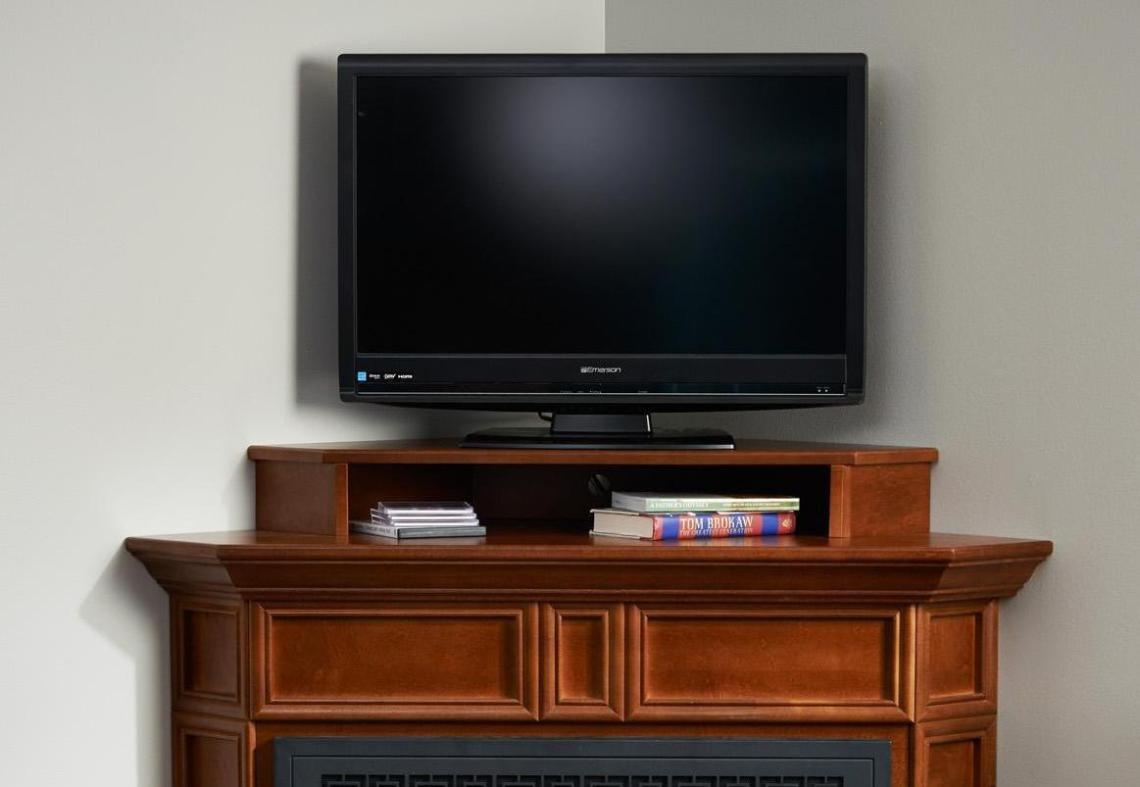 Image of: Electric Corner Fireplace Tv Stand