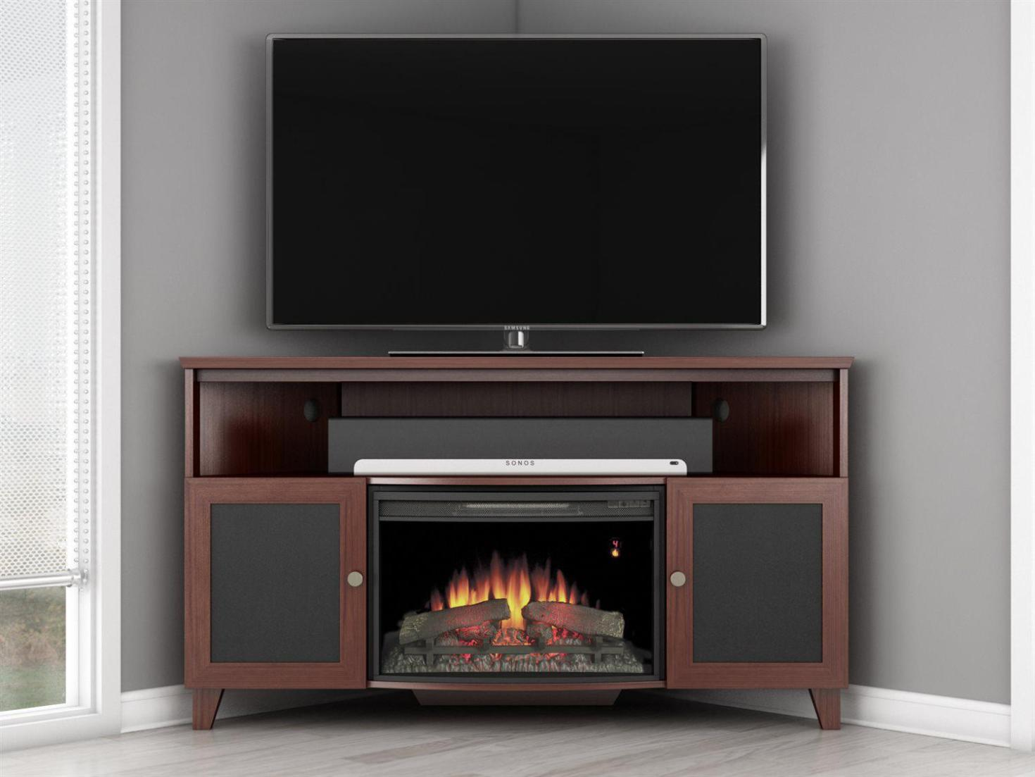 Image of: Electric Fireplace Corner Tv Stand