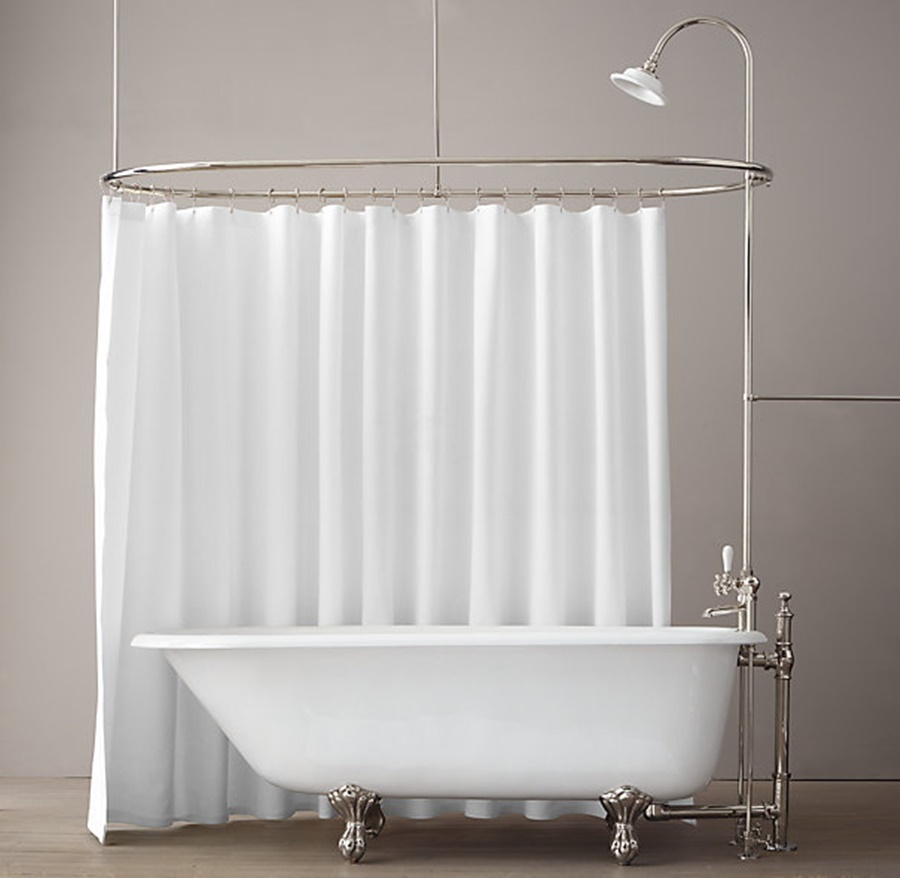 Image of: elegant clawfoot tub shower
