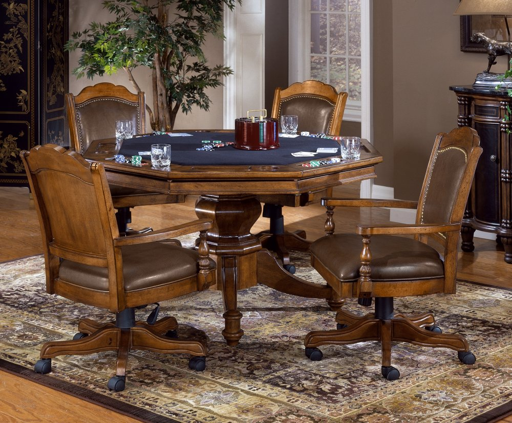 Image of: Elegant Dining Room Chairs With Casters