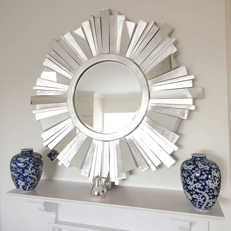 Image of: Elegant Sunburst Wall Mirror