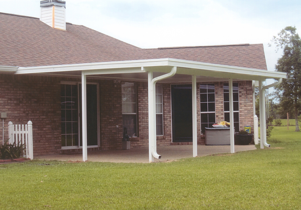 Image of: Enclosures Aluminum Awnings for Patios